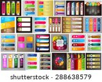 colorful modern text box... | Shutterstock .eps vector #288638579