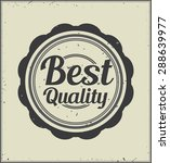 best quality retro badge | Shutterstock .eps vector #288639977