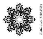 vector beautiful deco mandala.... | Shutterstock .eps vector #288645689