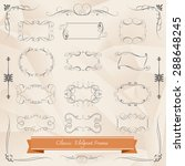 vintage frames and scroll... | Shutterstock .eps vector #288648245