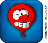 a smiling face baloon icon with ...