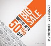 big sale up to 50  off. vector... | Shutterstock .eps vector #288660224