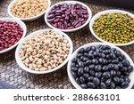 black eye peas  mung bean ... | Shutterstock . vector #288663101