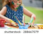 close up of little painting... | Shutterstock . vector #288667079