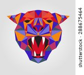 tiger stylized triangle... | Shutterstock .eps vector #288675464