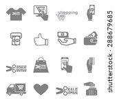 vector icon discounted spending ...   Shutterstock .eps vector #288679685