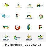 set of new universal company... | Shutterstock . vector #288681425