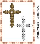 christian crosses  frame  border | Shutterstock .eps vector #28868923