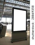 Bank billboard in airport - stock photo