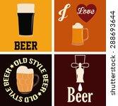 set of beer backgrounds with... | Shutterstock .eps vector #288693644