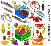 Mixed Types Of Freshly Fish...