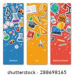 back to school vertical banners ... | Shutterstock .eps vector #288698165