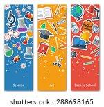 back to school vertical... | Shutterstock .eps vector #288698165
