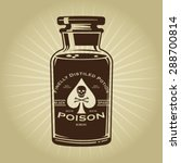vintage retro bottle of poison... | Shutterstock .eps vector #288700814