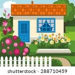 Summer House  Garden  Flowers ...