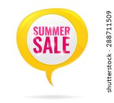 summer sale circle tag in... | Shutterstock .eps vector #288711509