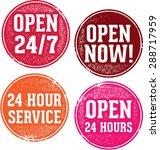 open 24 hours service stamps | Shutterstock .eps vector #288717959