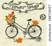 Vintage Poster For Flower Shop...