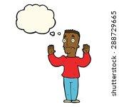 cartoon man surrendering with... | Shutterstock . vector #288729665