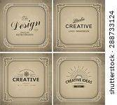 monogram  luxury logo template... | Shutterstock .eps vector #288733124