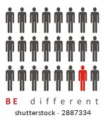be different  act different | Shutterstock . vector #2887334