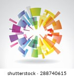 abstract vector sphere from... | Shutterstock .eps vector #288740615