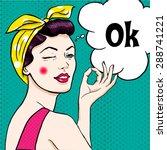woman in comic art style.  | Shutterstock .eps vector #288741221