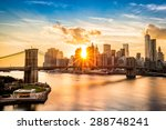 brooklyn bridge and the lower... | Shutterstock . vector #288748241