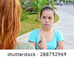 asian teenager disagree with... | Shutterstock . vector #288752969