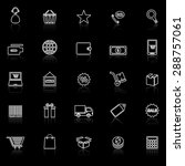 e commerce line icons with... | Shutterstock .eps vector #288757061