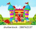 cartoon smiling gecko. vector... | Shutterstock .eps vector #288762137