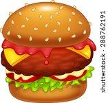 cartoon burger illustration | Shutterstock .eps vector #288762191