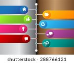 silver white brown modern time... | Shutterstock .eps vector #288766121