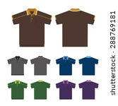 vector set of polo shirts ... | Shutterstock .eps vector #288769181