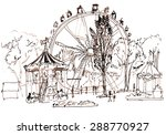 luna park. illustration. | Shutterstock . vector #288770927