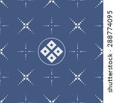 japanese geometric seamless... | Shutterstock .eps vector #288774095