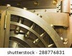 door in old bank safe deposit... | Shutterstock . vector #288776831