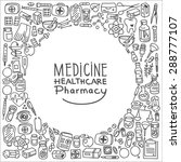 health care doodle icons... | Shutterstock .eps vector #288777107