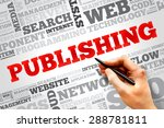 publishing word cloud  business ... | Shutterstock . vector #288781811