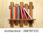 colorful books on shelf on...   Shutterstock . vector #288787151