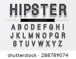 hipster typography font vector | Shutterstock .eps vector #288789074