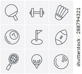 line icons style sport icons... | Shutterstock .eps vector #288794321