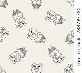 three little pigs doodle... | Shutterstock .eps vector #288797735
