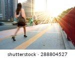 girls walking to work in... | Shutterstock . vector #288804527