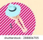 vector illustration of the girl ... | Shutterstock .eps vector #288806705