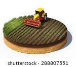 3d illustration of tractor... | Shutterstock . vector #288807551