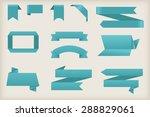 paper banners set.origami... | Shutterstock .eps vector #288829061