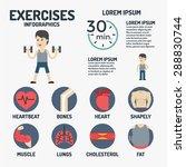 exercises infographics   Shutterstock .eps vector #288830744