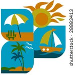 summer   tourism and vacations... | Shutterstock .eps vector #28883413