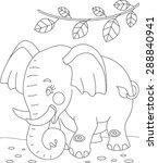 little elephant is on the road | Shutterstock .eps vector #288840941